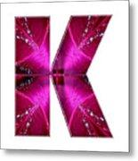 k kk kkk Alpha Art on Shirts alphabets initials   shirts jersey t-shirts v-neck by NavinJoshi Metal Print