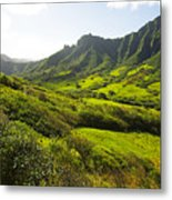 Kaaawa Valley And Kualoa Ranch Metal Print by Dana Edmunds - Printscapes