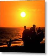 Kaanapali Beach Outrigger Sunset Metal Print