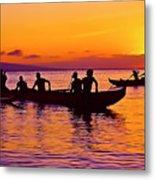 Maui Hawaii Kaanapali Outrigger Sunset Metal Print