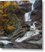 Kaaterskill Falls Autumn Square Metal Print