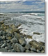 Kaena Point Shoreline Metal Print