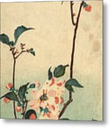 Kaido Ni Shokin II - Small Bird On A Blossoming Branch II Metal Print