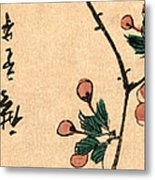 Kaido Ni Shokin IIi - Small Bird On A Branch Of Kaidozakura IIi Metal Print