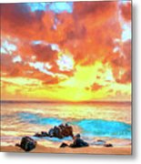 Kailua-kona Sunset Metal Print