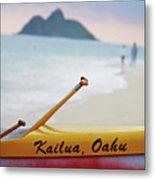 Kailua Paddleing Metal Print