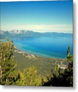 Lake Tahoe From The Top Of Heavenly Gondola Metal Print