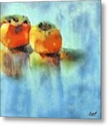 Kaki Couple Metal Print