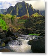 Kalalau Cathedral Metal Print