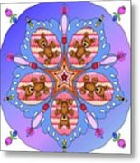 Kaleidoscope Of Bears And Bees Metal Print