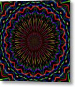 Kaleidoscoped Fireworks Metal Print