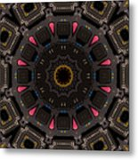 Kaleidoscopic Calculator Metal Print