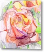 Kaleidoscopic Rose Metal Print