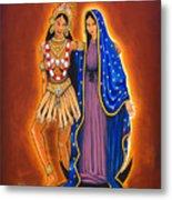 Kali And The Virgin Metal Print