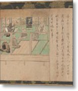 Kamakura Period    Illustrated Biography Of Hnen Shikotokden E Metal Print