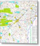 Kamkam Arkansas Highway Map  Metal Print