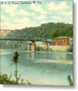 Kanawha Bridge Metal Print