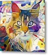 Kandinsky Cat Metal Print