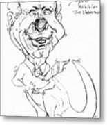 Kangaroo Politician Joe Lieberman Metal Print