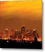 Kansas City Missouri Skyline Metal Print by Don Wolf
