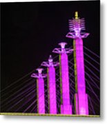 Kansas City Pylons In Pink Metal Print