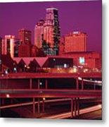 Kansas City Skyline 1991 Metal Print