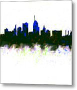 Kansas City Skyline Blue  Metal Print