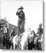Kansas: Cowboy, C1908 Metal Print