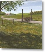 Kansas Farm Metal Print