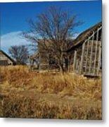 Kansas Farmhouse And Barn Metal Print