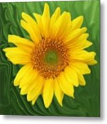 Kansas Sunflower Metal Print