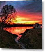 Kansas Sunrise Metal Print