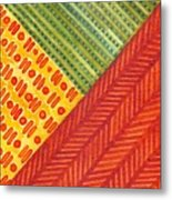 Kapa Patterns Triangle 1 Metal Print
