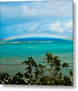 Kapalua Bay Rainbow Metal Print