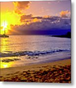 Kapalua Bay Sunset Metal Print