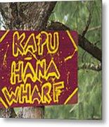 Kapu Hana Wharf Metal Print