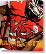Kareem Hunt, Kansas City Chiefs Metal Print