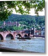 Karl Theodor Bridge And Heidelberg Castle  Metal Print