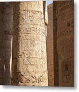Karnak Pillar Carvings Metal Print