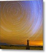 Karoo Desert Star Trails Metal Print