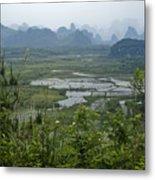 Karst Landscape Of Guangxi Metal Print