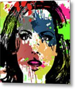 Kate Beckinsale Pop Art Metal Print