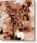 Kathak Dance On Tabla  Metal Print