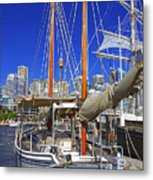 Kathleen Gillett The Artist Cruising Ketch Metal Print