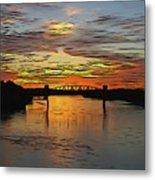 Katy Bridge Watercolor Effect Metal Print