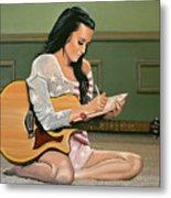 Katy Perry Painting Metal Print