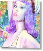Katy Perry Watercolor, Metal Print