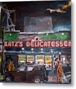 Katz Deli Metal Print