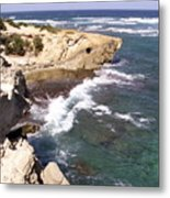 Kauai Coast With Shark Outcrop Metal Print