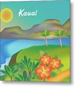 Kauai Hawaii Horizontal Scene Metal Print